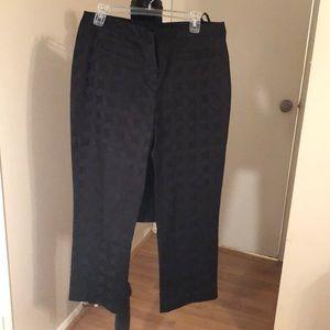 black ankle slacks /textured.